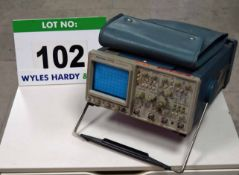 A TEKTRONIX 2445B 150Mhz 4-Channel Oscilloscope with Leads and Cover