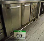 A FOSTER Model PREM1/2H Under Counter Commercial 2-Door Chiller Cabinet (Risk Assessment and