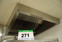 A 1.2M x 1.2M Ceiling mounted Filtered Fume Extraction Hood with Integrated Lighting (Risk