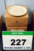 Two Boxes containing Twenty Four CHURCHILL Stonecast Oatmeal 8.67 inch Plates