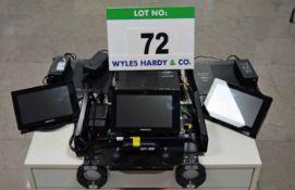 Three CRESTRON TSW-760-TTK-8-5 Touch Screen Control Terminals with Four CRESTRON DM-NVX-351 DM 4K