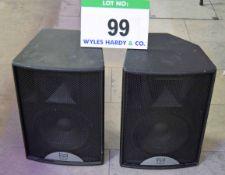 A Pair of MARTIN AUDIO BlackLine F12 Audio Speakers