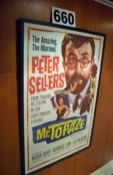 A 720mm x 1070mm Wall mounted Framed and Glazed Promotional Poster Advertising the Movie 'Mr.
