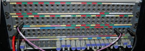 Four BES 24-Way Patch Panels and One 8-Way Audio Jack Fields