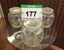 Three Large KILNER Jars