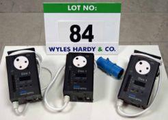 Three PHILIPS Strand Lighting Dim 1 Digital Light Controllers