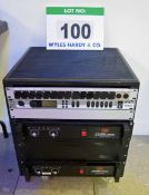 An In-House Built Castor mounted Portable Audio Amplifier Rack containing Input/Output Interface