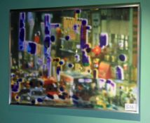 A 810mm x 585mm Framed and Glazed Digital Inkjet Print entitled 'Invisible City Northwest F6' 201 by