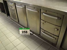 A FOSTER Model PREM1/3H Under Counter Commercial Chiller with 2-Door Cupboard and Three Drawers