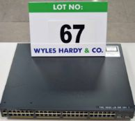A CISCO Catalyst 2960-X Series Model WS-C2960X-48LPD-L 48-Port plus 2 Rack mounted Network Switches