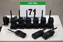 A 2-Way Radio System comprising Seven RETC 15 Digital 2-Way Radios, Two MOTOROLA TX460 2-Way Radios,