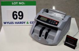 An Unbranded Model BPL-NG8 4GP Digital Electric Bank Note Counting Machine