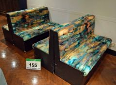 The Four Piece Timber Framed Bench Seating for circa Eight People with Abstract Patterned Buttoned