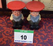 A Pair of KARTELL Gnome Stools