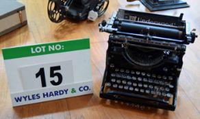 An UNDERWOOD Skeleton Frame Manual Typewriter - for Ornamental Use