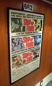 A 720mm x 1070mm Wall mounted Framed and Glazed Promotional Poster Advertising the Movie 'Ship of