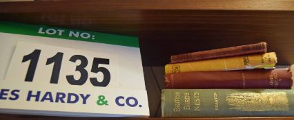 4: Vintage Books: British Birds Nests by Keaton, A Caged Bird by M. Fleming, The Day of the FOX by