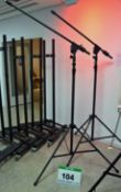 Two SUPERLUX Grey Steel Extending Portable Boom Stands