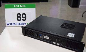 A W-AUDIO DA500 Series 2 x 250W Twin Channel Pro Power Amplifier