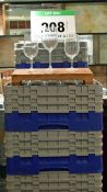 Seven Plastic Dishwasher Baskets containing One Hundred and Seventy Five Wine Glasses