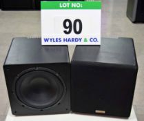 A Pair of TAPCO 5W-10 Active Studio Sub-Woofer Audio Monitors