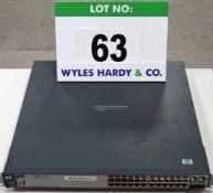 A HEWLETT PACKARD ProCurve Switch 2626-PWR 26-Port (24 plus 2) Rack mounted Network Switch