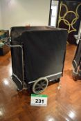 A SERIOUS ENGINEERING LTD. 6-Tier Wheeled Pedestrian Catering Delivery Cart with Handlebar