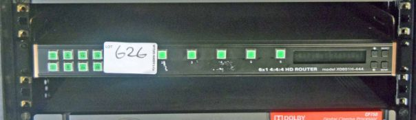 An EVERTZ Model X0601H-444 6x1 4: 4: 4 HD Router (NB. Lots 606 thru 659 Inclusive form the Content