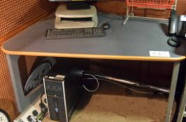 Two Grey Laminate Finish Projectionist's Work Stations (NB. Lots 606 thru 659 Inclusive form the