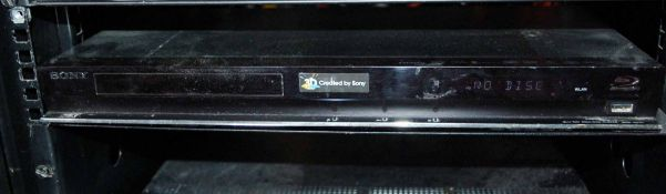 A SONY BluRay Disc Player with Hand Held Remote Control (NB. Lots 606 thru 659 Inclusive form the