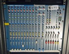An ALLEN AND HEATH MixWizard WZ3 14:4:2 Ride mounted Sound Mixing Desk (NB. Lots 606 thru 659