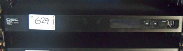 A QSC Q-SYSCinema Core 110C Digital Audio Signal Processor (NB. Lots 606 thru 659 Inclusive form the