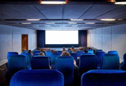 The Thirty Seat capacity Digital Movie Screening Facility to include Projectionists Room