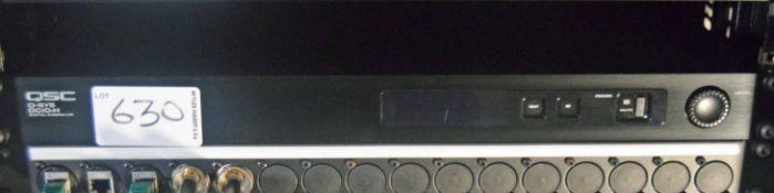 A QSC Q-SYS DC10H Digital Cinema I/O (NB. Lots 606 thru 659 Inclusive form the Content of Lot 660