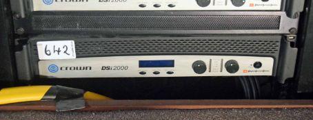 A CROWN DSi 2000 Digital Studio System Digital Video Amplifier (NB. Lots 606 thru 659 Inclusive form