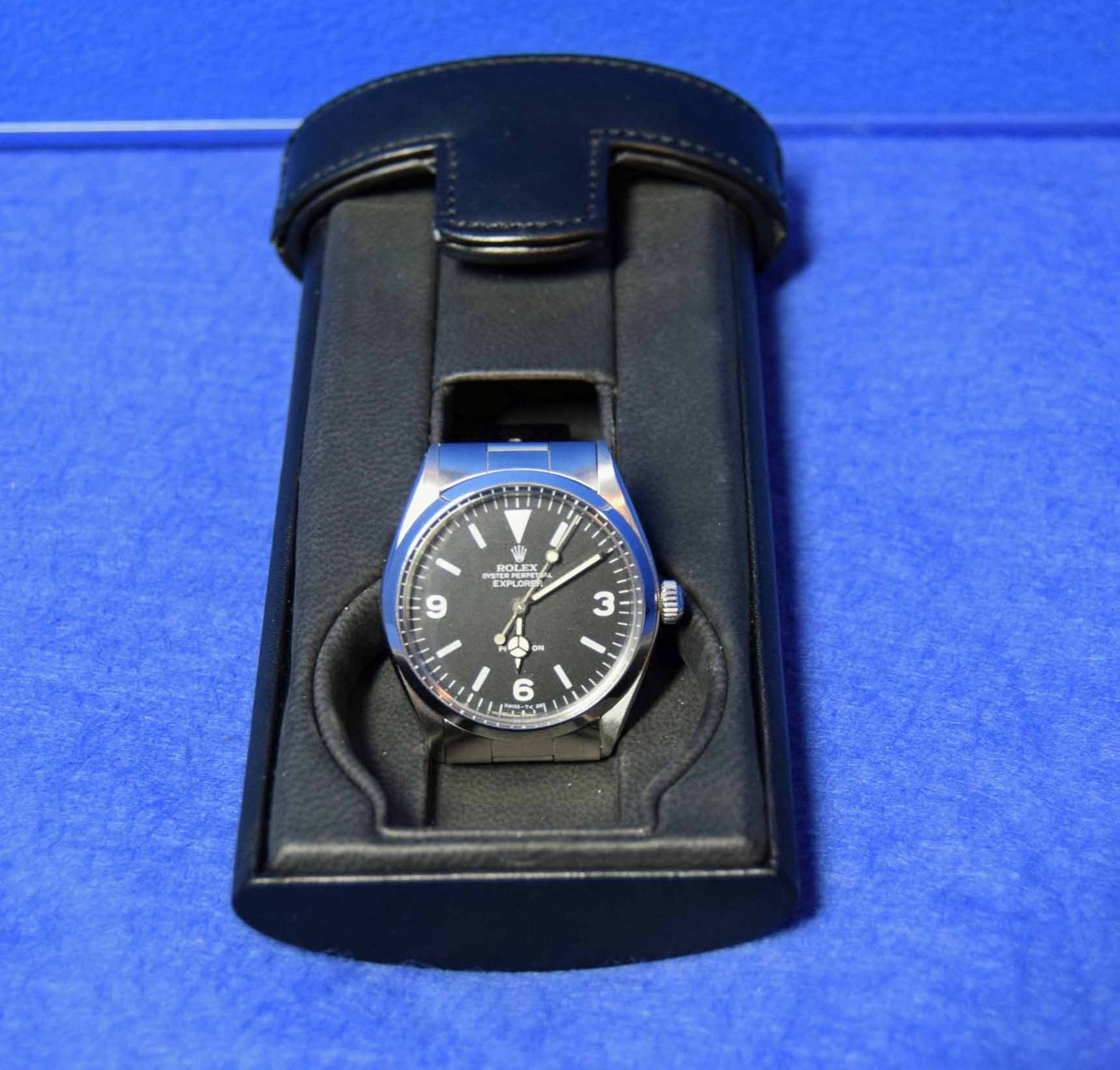 A ROLEX Explorer Watch in a 36mm dia. Oyster Steel Case, a Black Dial Large Hour Markers and - Image 5 of 6