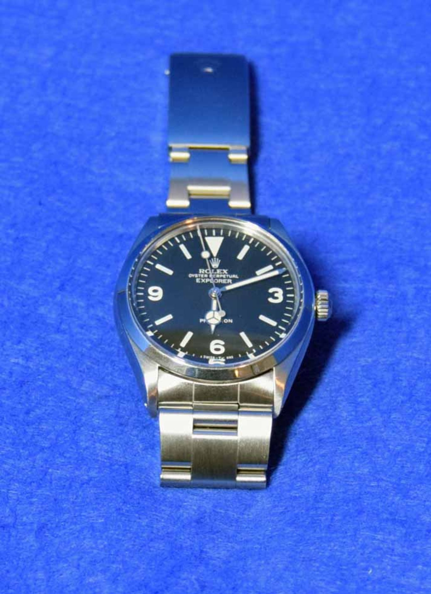 A ROLEX Explorer Watch in a 36mm dia. Oyster Steel Case, a Black Dial Large Hour Markers and - Image 3 of 6