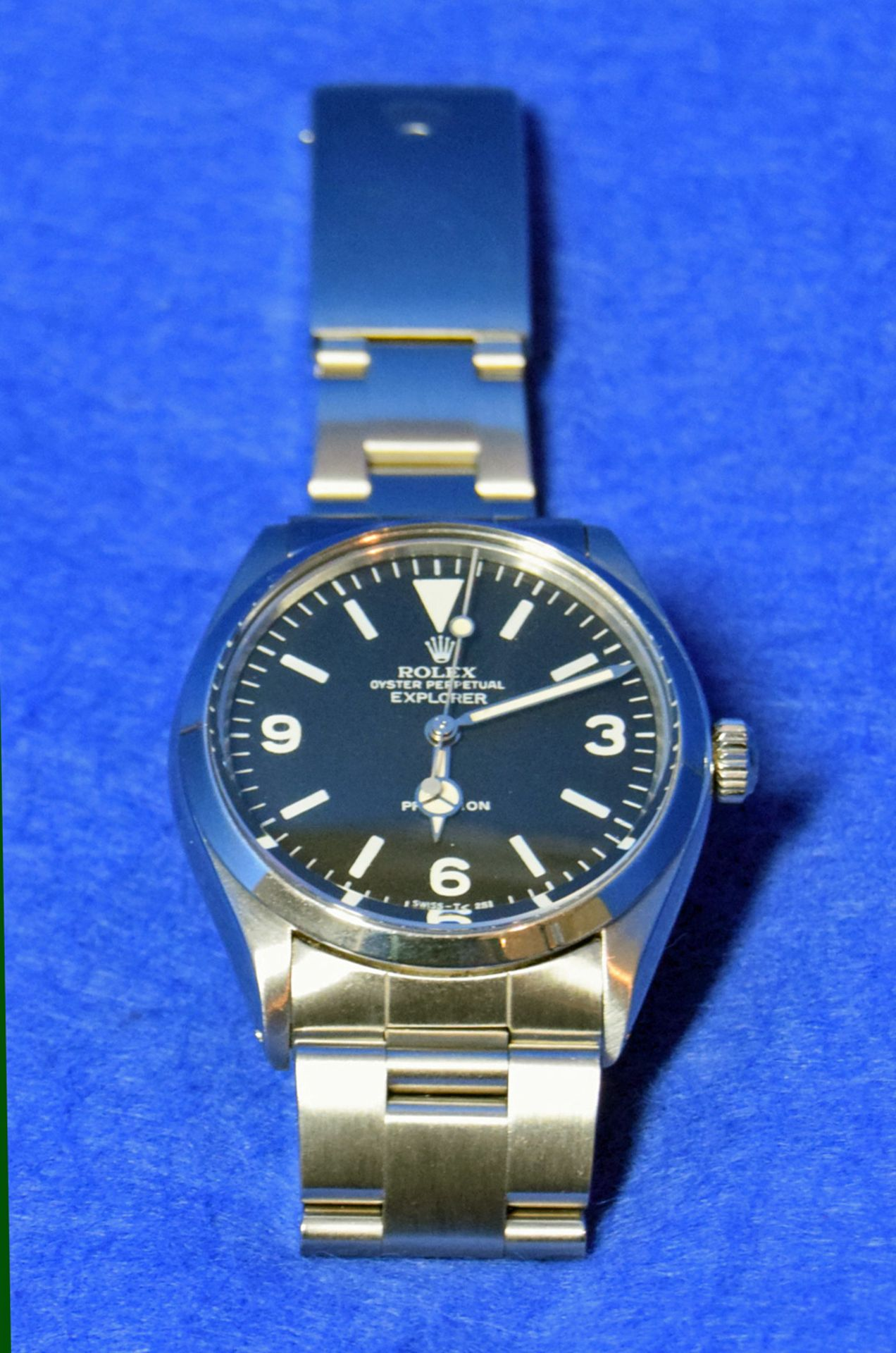 A ROLEX Explorer Watch in a 36mm dia. Oyster Steel Case, a Black Dial Large Hour Markers and - Image 2 of 6