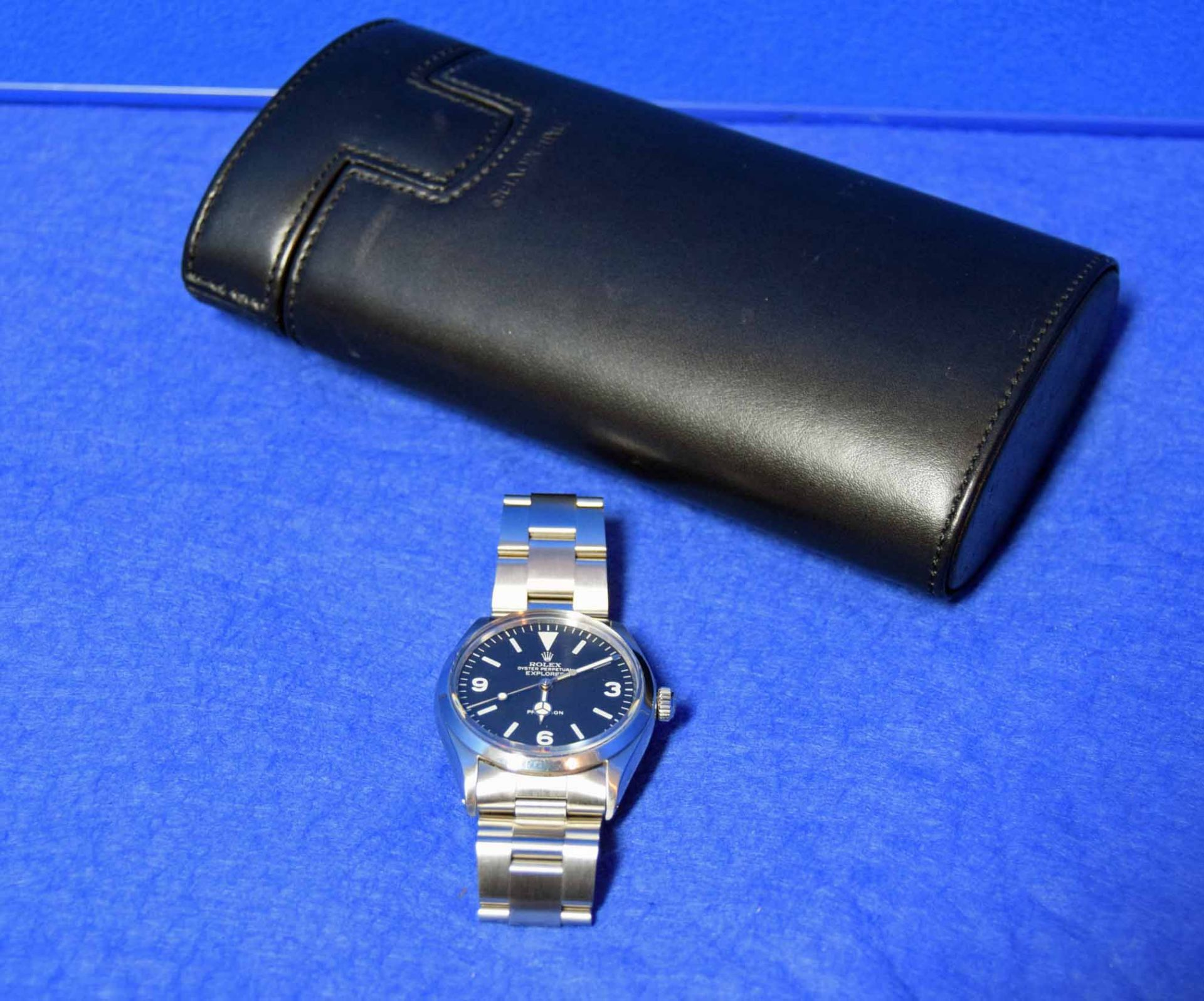 A ROLEX Explorer Watch in a 36mm dia. Oyster Steel Case, a Black Dial Large Hour Markers and - Image 4 of 6