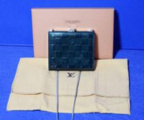 A LOUIS VUITTON Damier Ange Shoulder Bag in Petrol Blue/Green Patent Leather with embossed Logo to