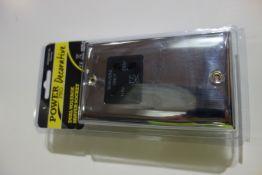 10 X SMJ PPSKSHAV-CH Power Pro Decorative Dual Voltage Shaver Socket Chrome Finish Black Inserts