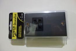 10 X SMJ PPSKSHAV-AH Power Pro Decorative Dual Voltage Shaver Socket Anthracite Finish Black Inserts