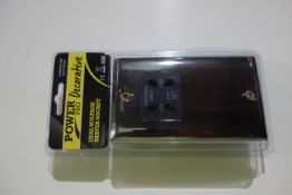 10 X SMJ PPSKSHAV-BN Power Pro Decorative Dual Voltage Shaver Socket Black Nickel Finish Black