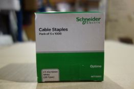20 X Packs Of Schneider IMT70003 Cable Staples CT-45/10MM White 1000 Per Pack