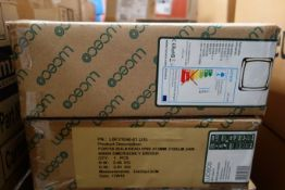 8 x LUCECO LBF21E40-01(JX) 24w LED Fortis Bulkheads 3Hr Emeregency 4000K 2100 Lumens