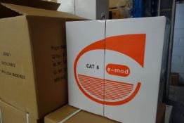 2 x Pull Boxes of E-MOD C207EMODV Cat 6 UTP/LS2H Violet Data Cable Internal 4 Pair 305m Per Box