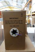 2 x Pull Boxes of SCS Data Cable M243231/AP CAT5E LSZH 305m per box