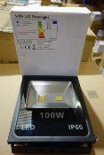 2 X Hilclare AFS100LED40 Sofia LED Floodlights 100W 4000K IP65 Black Finish