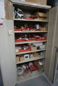"Cabinet w/Temperature Monitors and Lights   78"" x 36"" x 24"""