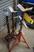 Lot of (3) Pipe Stands